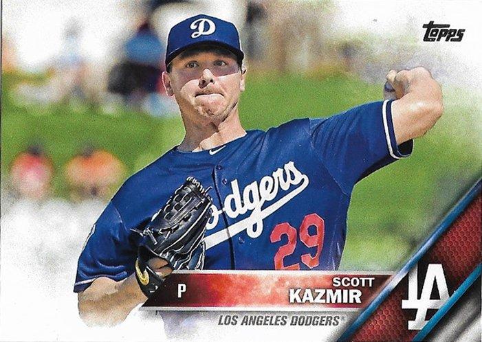 Scott Kazmir 2016 Topps #377 Los Angeles Dodgers Baseball Card
