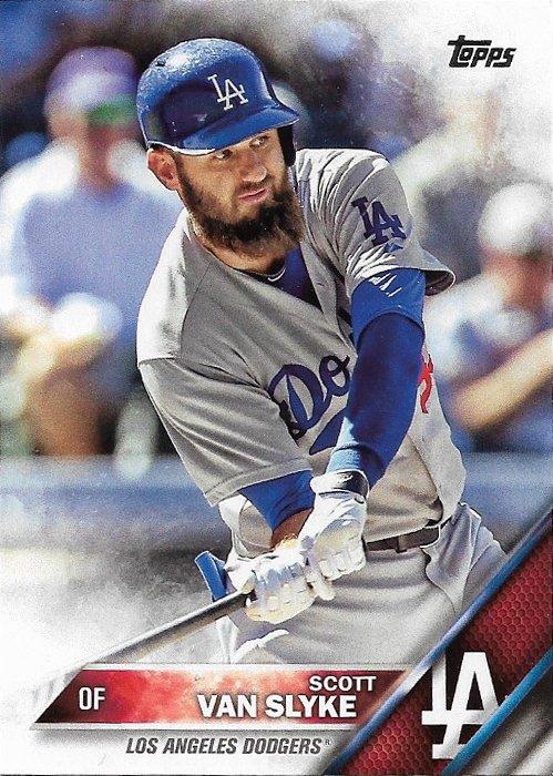 Scott Van Slyke 2016 Topps #542 Los Angeles Dodgers Baseball Card
