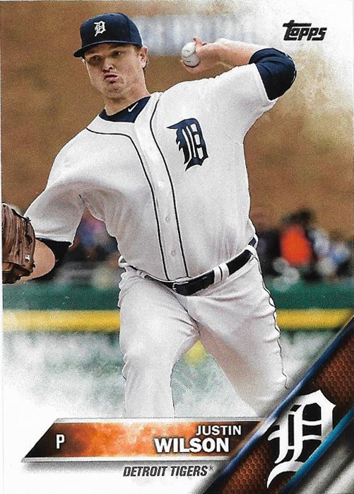 Justin Wilson 2016 Topps Update #US187 Detroit Tigers Baseball Card