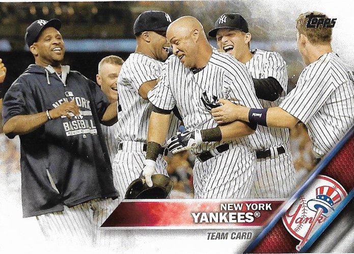 New York Yankees 2016 Topps #155 Baseball Team Card