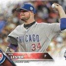 Jon Lester 2016 Topps Update #US160 Chicago Cubs Baseball Card