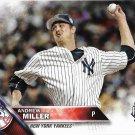 Andrew Miller 2016 Topps Update #US181 New York Yankees Baseball Card