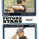 Gabe Gross-Guillermo Quiroz 2005 Topps #329 Toronto Blue Jays Baseball Card