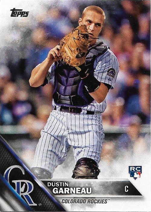 Dustin Garneau 2016 Topps Rookie #51 Colorado Rockies Baseball Card