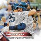 Mark Teixeira-Alex Rodriguez 2016 Topps #329 New York Yankees Baseball Card