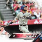 Nomar Mazara 2016 Topps Update Rookie Debut #US295 Texas Rangers Baseball Card