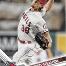Jered Weaver 2017 Topps #135 Los Angeles Angels Baseball Card
