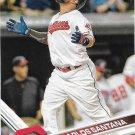 Carlos Santana 2017 Topps #121 Cleveland Indians Baseball Card
