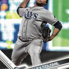 Alex Colome 2017 Topps #156 Tampa Bay Rays Baseball Card