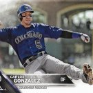 Carlos Gonzalez 2016 Topps #683 Colorado Rockies Baseball Card