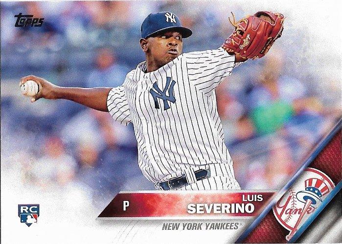 Luis Severino 2016 Topps Rookie #265 New York Yankees Baseball Card