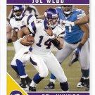 Joe Webb 2011 Score #165 Minnesota Vikings Football Card