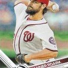 Tanner Roark 2017 Topps #212 Washington Nationals Baseball Card