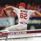 Luke Weaver 2017 Topps Rookie #234 St. Louis Cardinals Baseball Card