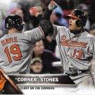 Chris Davis-Manny Machado 2016 Topps Update #US120 Baltimore Orioles Baseball Card