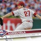 Aaron Nola 2017 Topps #340 Philadelphia Phillies Baseball Card
