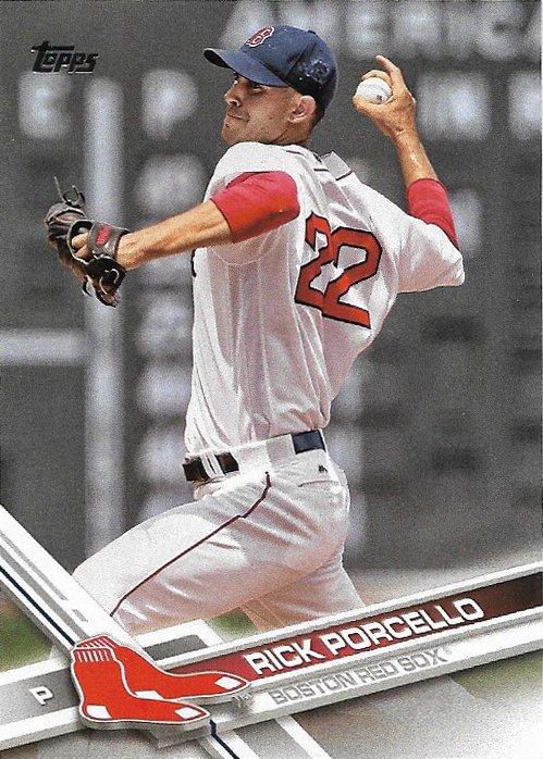 Rick Porcello 2017 Topps #178 Boston Red Sox Baseball Card