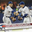 Troy Tulowitzki-Josh Donaldson 2017 Topps #230 Toronto Blue Jays Baseball Card