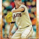 Matt Cain 2015 Topps #167 San Francisco Giants Baseball Card