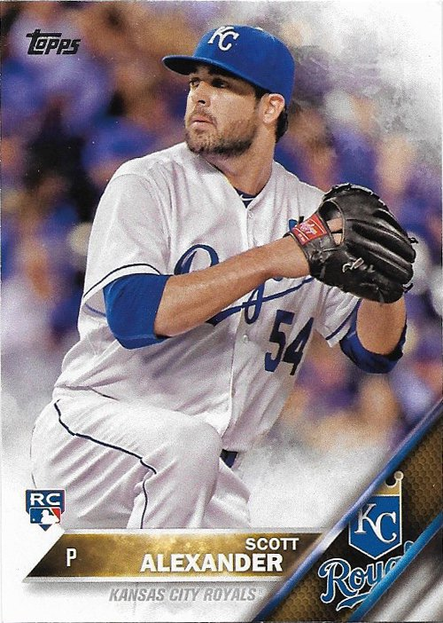 Scott Alexander 2016 Topps Rookie #366 Kansas City Royals Baseball Card