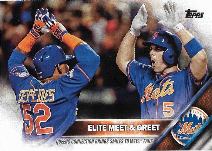 Yoenis Cespedes-David Wright 2016 Topps #643 New York Mets Baseball Card