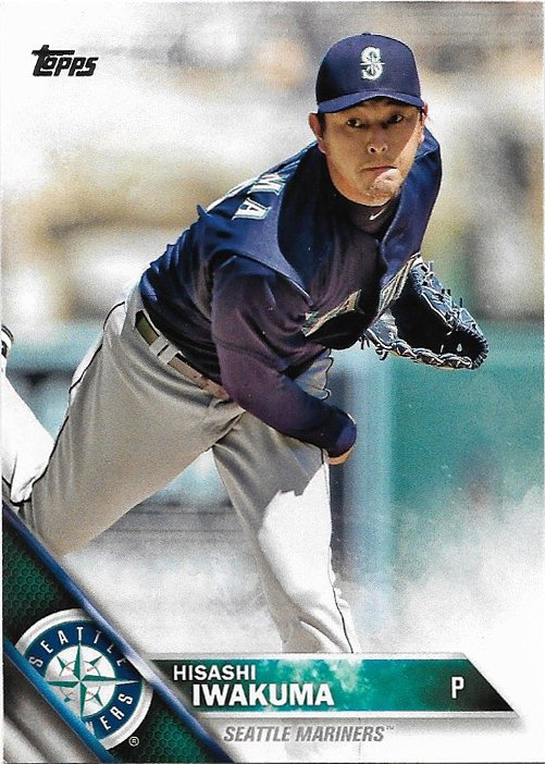 Hisashi Iwakuma 2016 Topps #476 Seattle Mariners Baseball Card