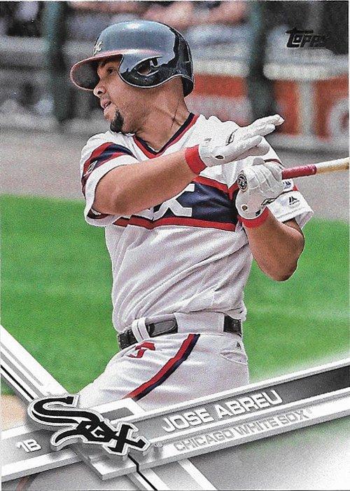 Jose Abreu 2017 Topps #593 Chicago White Sox Baseball Card