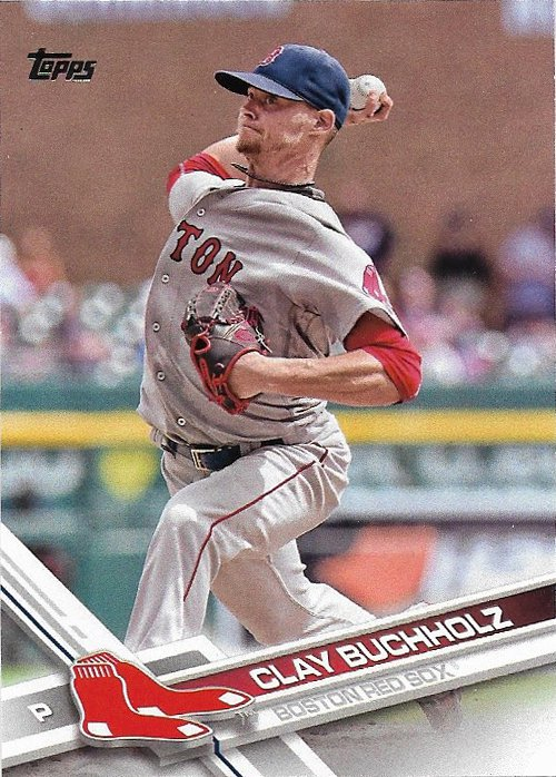 Clay Buchholz 2017 Topps #267 Boston Red Sox Baseball Card