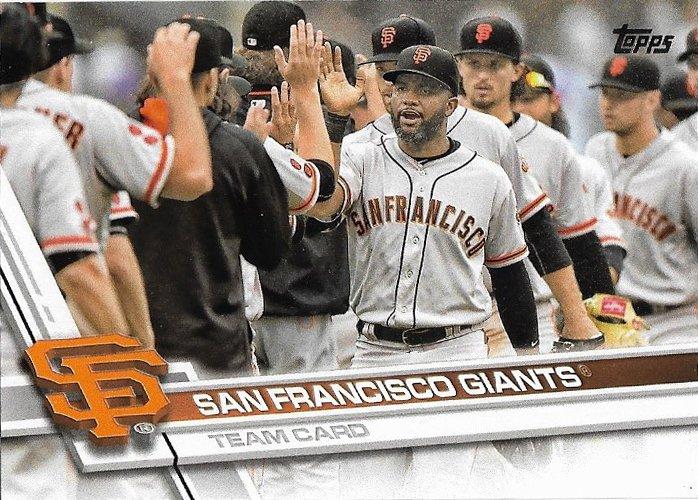 San Francisco Giants 2017 Topps #235 Baseball Team Card