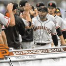 San Francisco Giants 2017 Topps #235 Baseball Team Card
