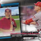 Joey Votto 2017 Topps Bowman Then & Now #BOWMAN-15 Cincinnati Red Baseball Card