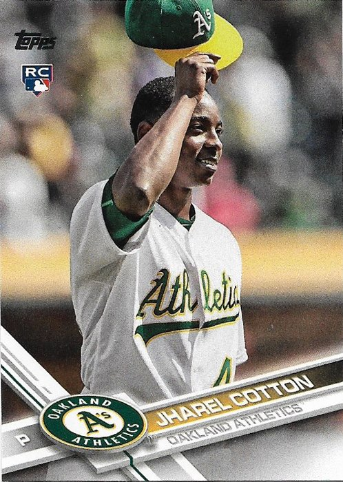 Jharel Cotton 2017 Topps Rookie #451 Oakland Athletics Baseball Card