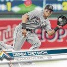 Derek Dietrich 2017 Topps #424 Miami Marlins Baseball Card