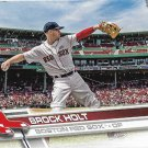 Brock Holt 2017 Topps #581 Boston Red Sox Baseball Card