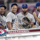 Texas Rangers 2017 Topps #430 Baseball Team Card
