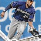 Domingo Santana 2017 Topps #628 Milwaukee Brewers Baseball Card