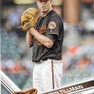 Chris Tillman 2017 Topps #577 Baltimore Orioles Baseball Card