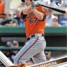 Trey Mancini 2017 Topps Rookie #536 Baltimore Orioles Baseball Card
