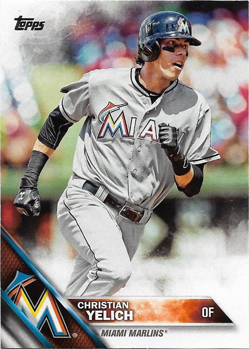 Christian Yelich 2016 Topps #223 Miami Marlins Baseball Card