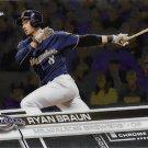 Ryan Braun 2017 Topps Chrome #26 Milwaukee Brewers Baseball Card