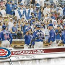 Chicago Cubs 2017 Topps #72 Baseball Team Card