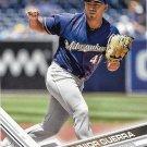 Junior Guerra 2017 Topps #98 Milwaukee Brewers Baseball Card