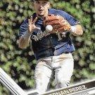 Hernan Perez 2017 Topps #458 Milwaukee Brewers Baseball Card