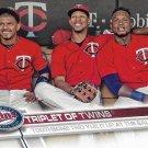 Triplet of Twins 2017 Topps #590 Minnesota Twins Baseball Card