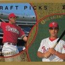 Pat Burrell, Eric Valent 1999 Topps Rookie #444 Baseball Card