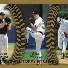 Roger Clemens, Greg Maddux, Kerry Wood 1999 Topps #460 Baseball Card