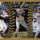 Frank Thomas, Tim Salmon, David Justice 1999 Topps #456 Baseball Card