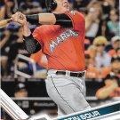 Justin Bour 2017 Topps #594 Miami Marlins Baseball Card