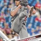 Scott Kazmir 2017 Topps #447 Los Angeles Dodgers Baseball Card