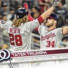 Jayson Werth-Bryce Harper 2017 Topps #584 Washington Nationals Baseball Card